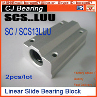 2pcs Lot SCS13LUU 13mm Linear Axis Ball Bearing Block With Bush Pillow Block Linear Unit For