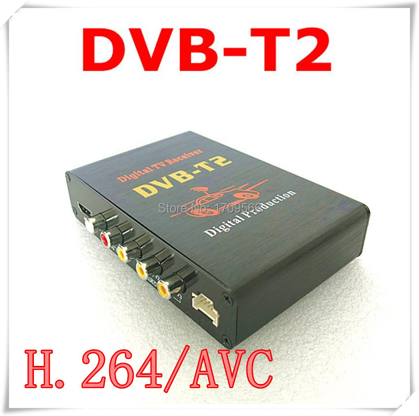 free shipping car hd digital tv tuner dvb t2 receiver box for russia thailand singapore malaysia. Black Bedroom Furniture Sets. Home Design Ideas