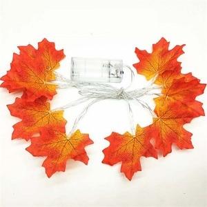 LED Maple Leaf Fairy Garland L
