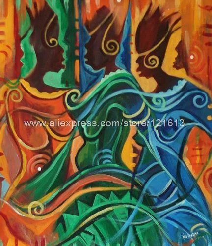 African Fashion Orig Painting Ghana Fine Art Oil Paintings Canvas Painting Ideas Realistic Abstract Painting Bathroom