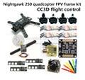 DIY mini drone Nighthawk 250 kit quadro FPV Falcão D2204 motor + Vermelho BL12A ESC OPTO + CC3D/NAZE32 + 700TVL mini câmera + TS5823