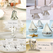 New Novelty Seat Card Holder for Wedding Resin/Metal Message Card Holder Desk Photo Holder