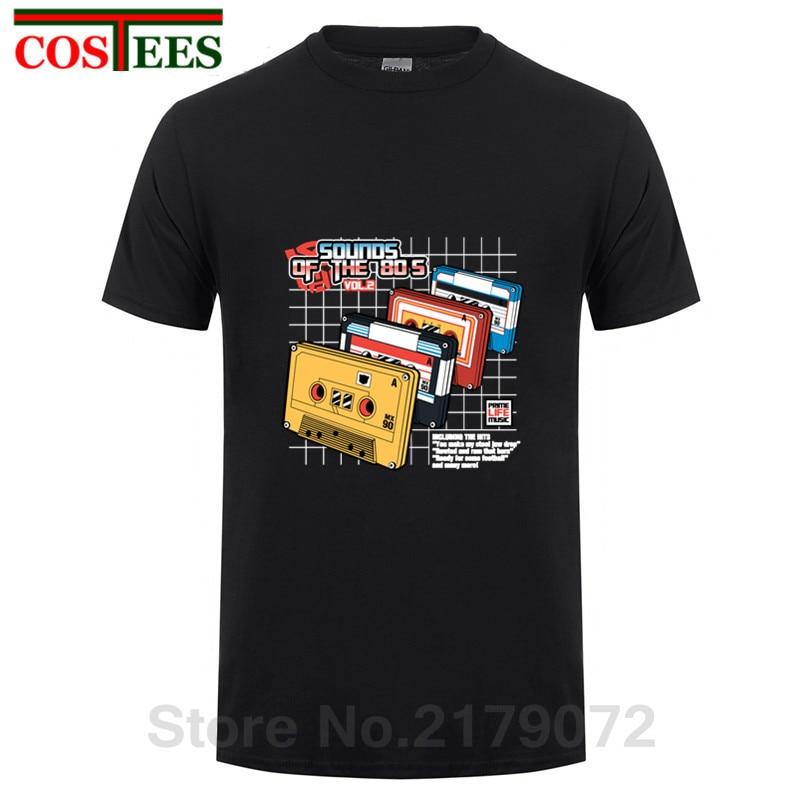 Popular Men T Shirts Short Sleeve Sounds of the 80s Vol2 t-shirt Cheap Sale Casual Music Homme t-shirts Men home wear Streetwear