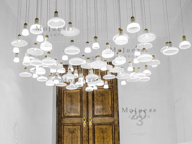 Creative Nordic art shadow bar glass LED single head pendant lamp цена