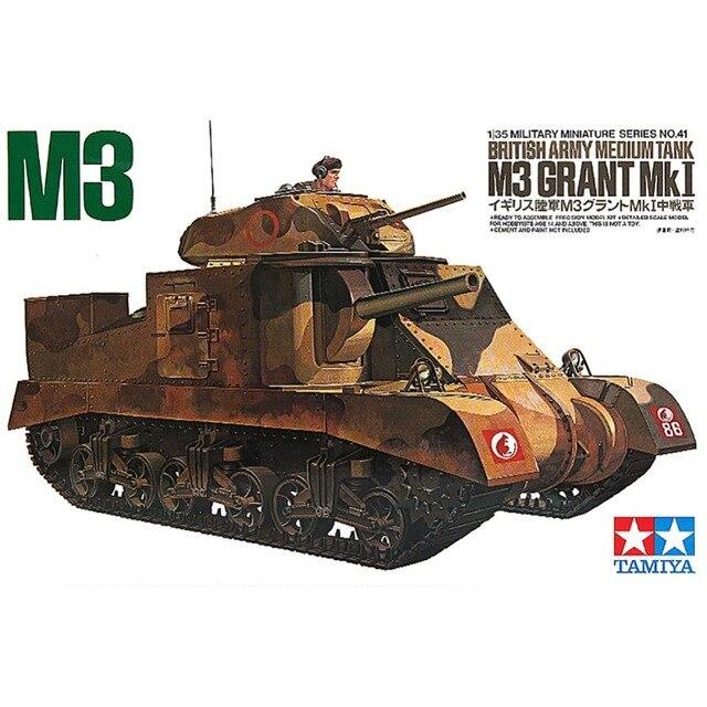 OHS Tamiya 35041 1/35 British Army Medium Tank M3 Grant Mk I Military Assembly AFV Model Building Kits
