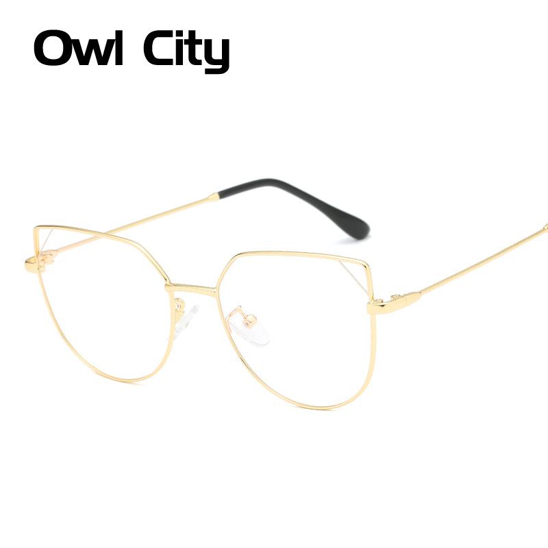 Owl City Women Eyeglasses Cat eye Brand Designer Glasses Frame Anti-blue ray Optical Clear Lenses Unisex Cateye Eyewear Frames