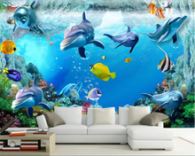 beibehang wallpaper papel de parede papier peint bebang 3D seabed animal seabed fish living room TV wall papel tapiz beibehang any size size wallpaper dinosaur tv wall murals children bedroom papel de parede 3d wallpaper wall 3 d papier peint