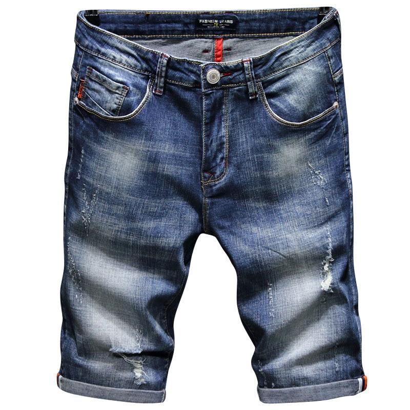 2018 Men Short Jeans Mens Fashion Casual Shorts Big Sale Summer Clothes Fashion Brand Male Short Pants mens denim shorts 38