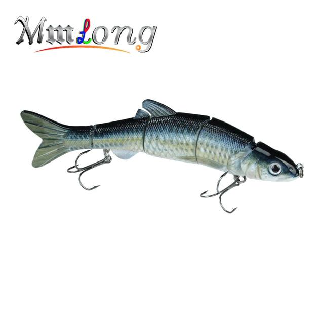 """Mmlong 6.5 """"/39g nouveau leurre de pêche au brochet appâts de pêche réaliste multi-articulés appâts de poisson dur appâts de pêche Pesca MML12B"""