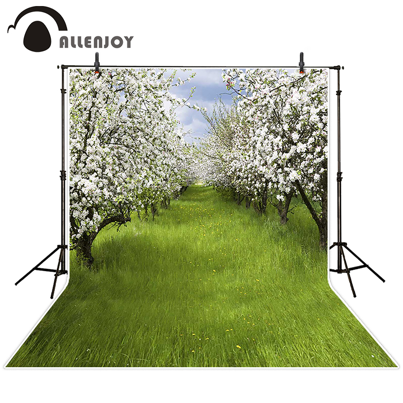 Allenjoy photographic spring background Meadow flowers arranged in a tree backdrops baby boy digital summer 10ft*20ft new arrival background fundo meadow flowers gift 300cm 200cm about 10ft 6 5ft width backgrounds lk 3858