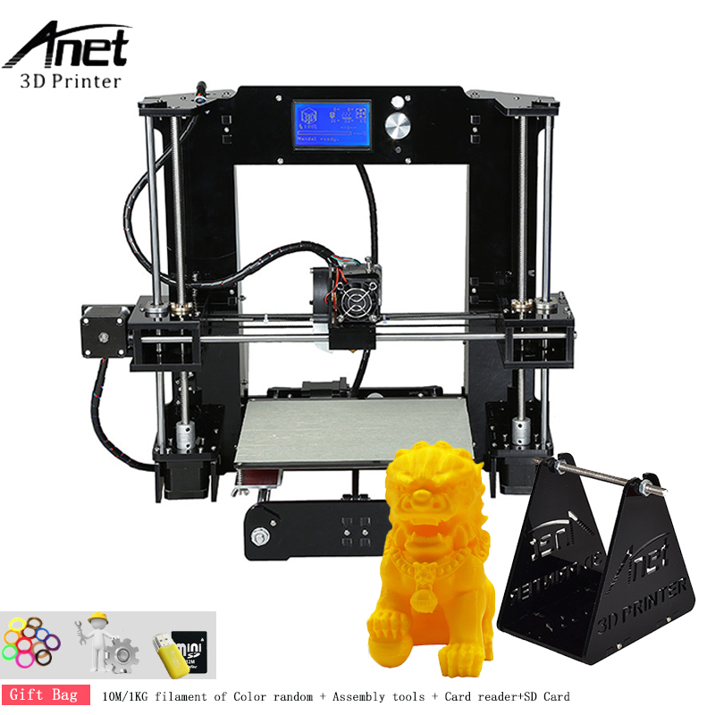 High Resolution Anet A6 3d Printer High Precision Reprap i3 3d Printer Kit DIY With Free 10m/1kg Filament 0.4mm Extruder Nozzle все цены