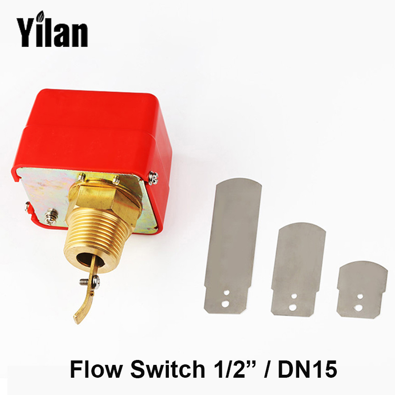 1/2 AC250V 5A Water Paddle Flow Sensors Male Thread Flow Paddle Water Pump Flow Switch HFS-25(DN15) ,LKB-01 1 2 pt male thread 90w power electric pressure flow switch for water pump