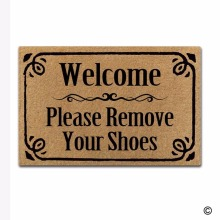 Rubber Doormat For Entrance Door Floor Mat - Non-slip Doormat- Home Is Where You Park It Designed Non-woven Fabric