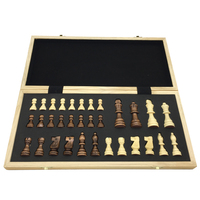 Classic Wooden Storage Box & Pieces Large Outdoor Entertainment Game Board Size 39.4 cm x 39 cm Magnetic Chess Sets Gift For Men