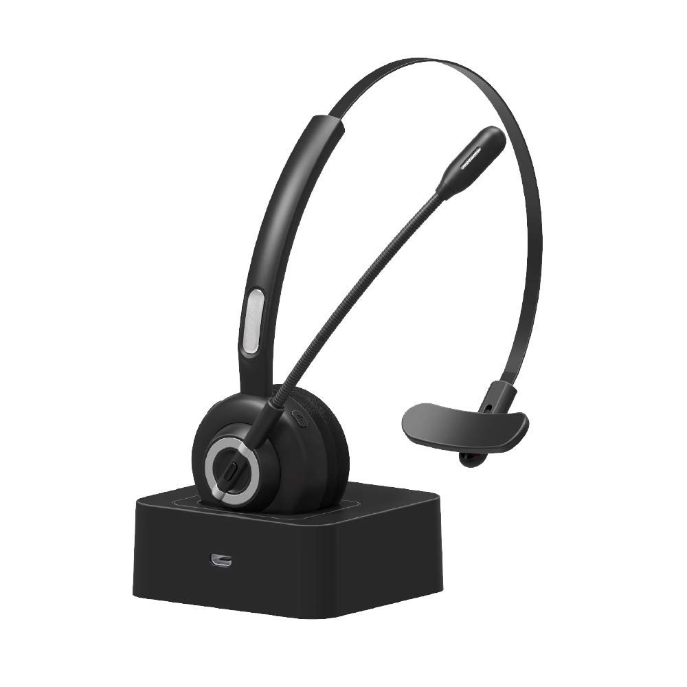 Black Best Bluetooth Headset with Boom MIC Charging Dock for Computer Service Center iPhone6 5S 5 4S Samsung Galaxy Note HTC Зарядная станция