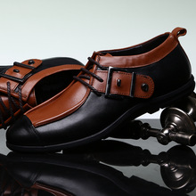 2018 New fashion geuine leather men Cowhide leather shoes Trend leisure men casual comfortable high quality shoes business shoes 17 new models of high end goods leather shoes leisure shoes fashion shoes