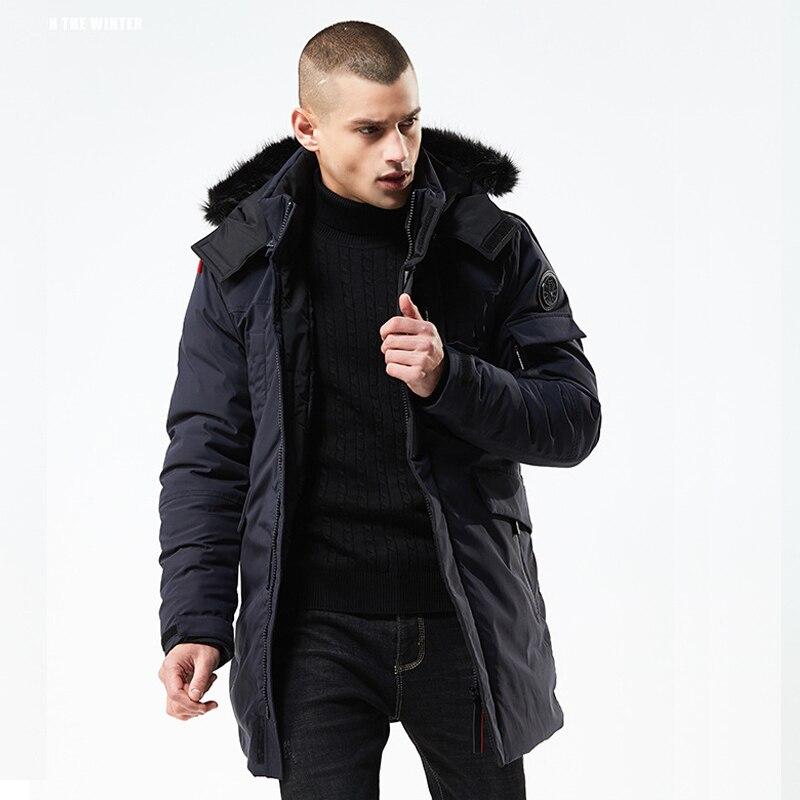 새로운 겨울 자 켓 남자 슬림 두꺼운 파 카 남자 따뜻한 최고 품질 방수 지퍼 옷 남자 패션 겨울 코트-에서파카부터 남성 의류 의  그룹 1