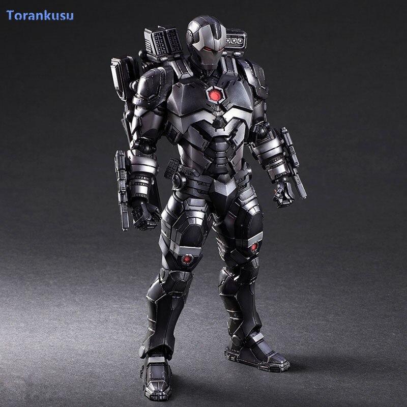 Ironman War Machine Action Figure Play Arts Kai Iron Man PVC Toy 26cm Iron Man Patriot