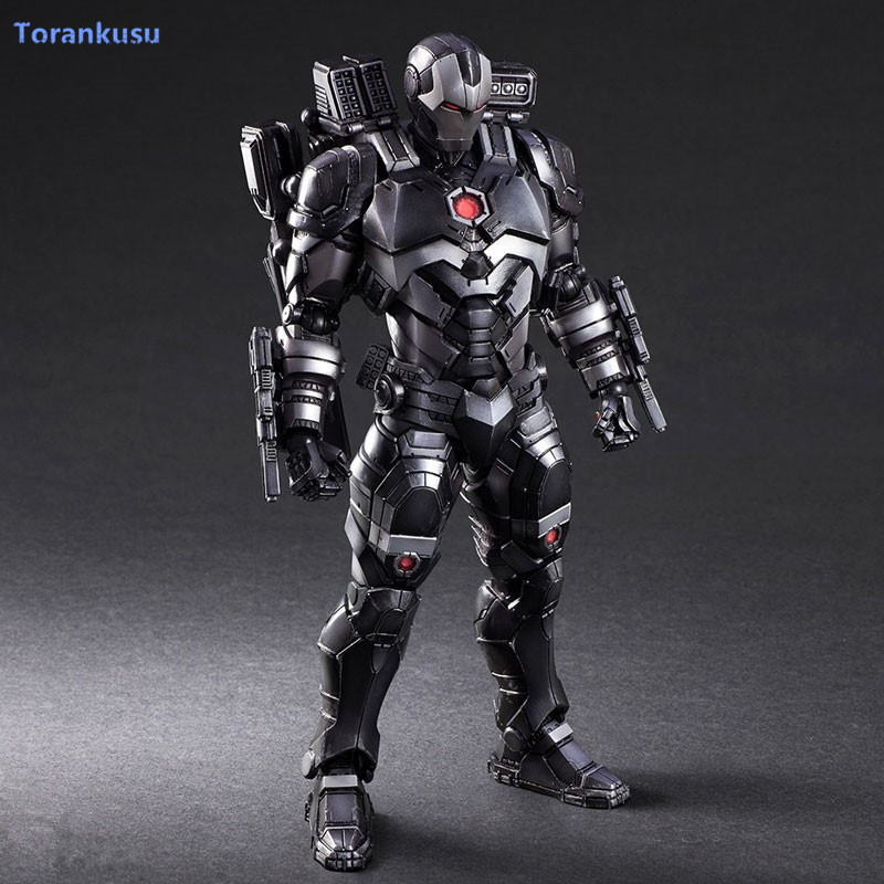 Ironman Guerre Machine Figurine Play Arts Kai Iron Man PVC Jouet 26 cm Iron Man Patriote Tony Stark Hulkbuster modèle Poupée PA45
