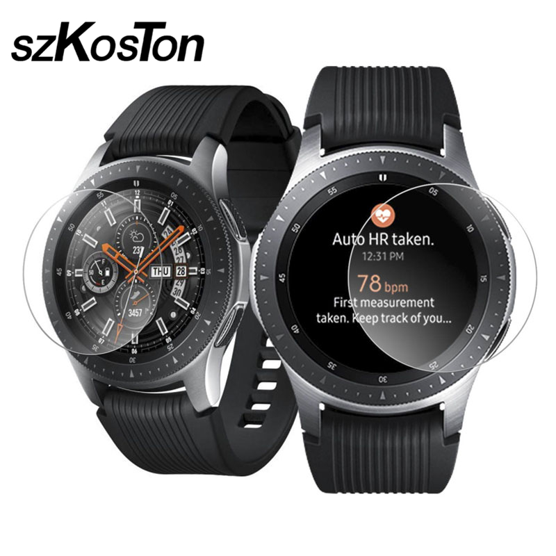 5 Pcs /Lot Tempered Glass For Samsung Galaxy Watch 46mm Screen Protector Film For Samsung Watch 42mm Bracelet Wrist Band