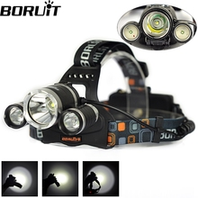 High Power 6000Lumen 3 LED  XML T6 LED Headlamp Healight Head Lamp Light Torch for Camping Hunting