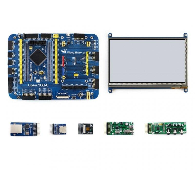 цена на Waveshare STM32F7 Development Board Open746I-C Development Kit Package A =STM32F746I STM32F746IGT6 MCU Mother Board +7 Modules