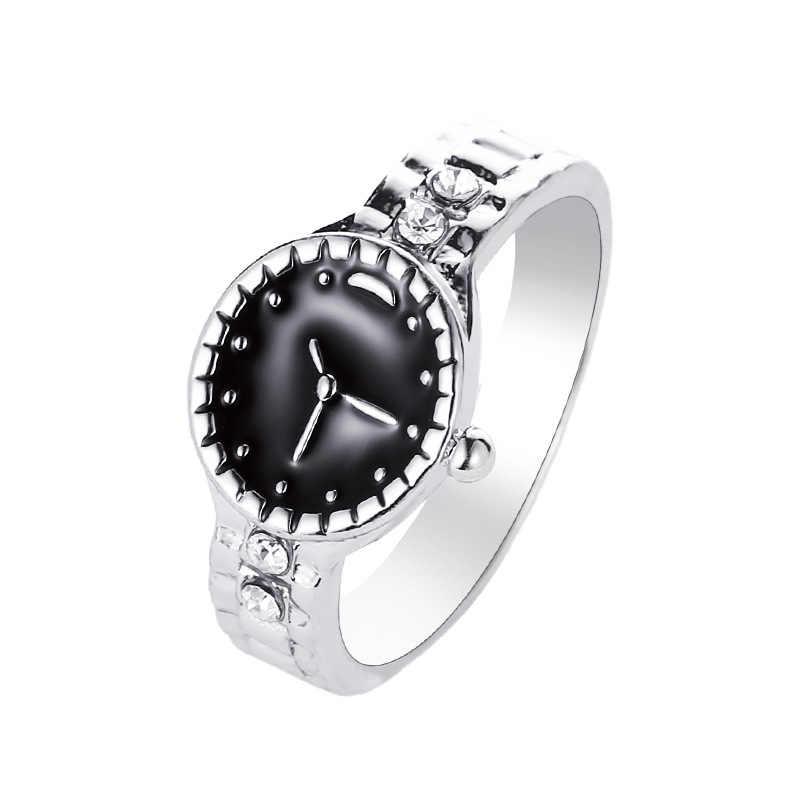 คริสต์มาสของขวัญผู้หญิงนาฬิกาสไตล์แหวนน่ารักงานแต่งงานแหวนเงินน่ารัก noble แฟชั่นคลาสสิก
