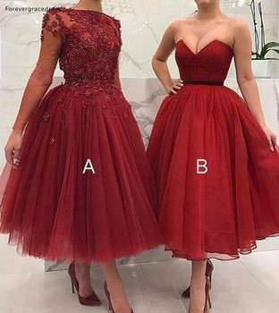 Red Mother of the Bride Dresses 2019 Elegant A Line Tulle Formal Groom Godmother Evening Wedding Party Guests Gowns Plus Size