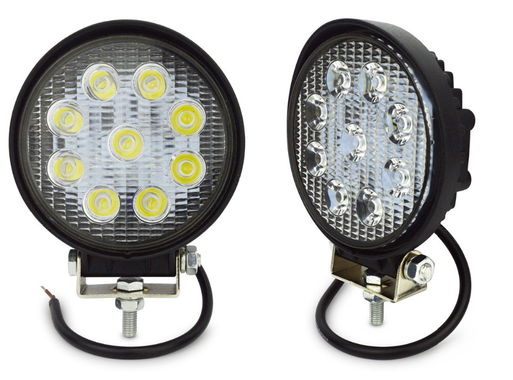 2pcs 4inch round led work light 27w led tractor work lights 27w led worklight 12v 24v spot light. Black Bedroom Furniture Sets. Home Design Ideas