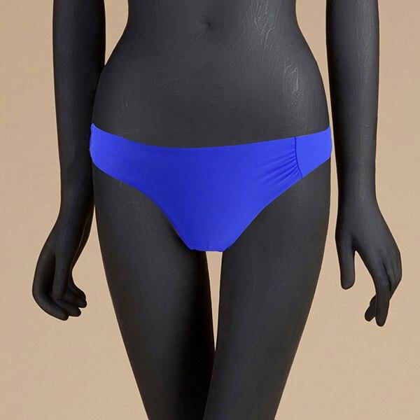 M& M 12 цветов, Раздельный купальник из двух частей, сексуальный купальник с низкой талией, женские одноцветные плавки, бразильские Плавки бикини - Цвет: Небесно-голубой