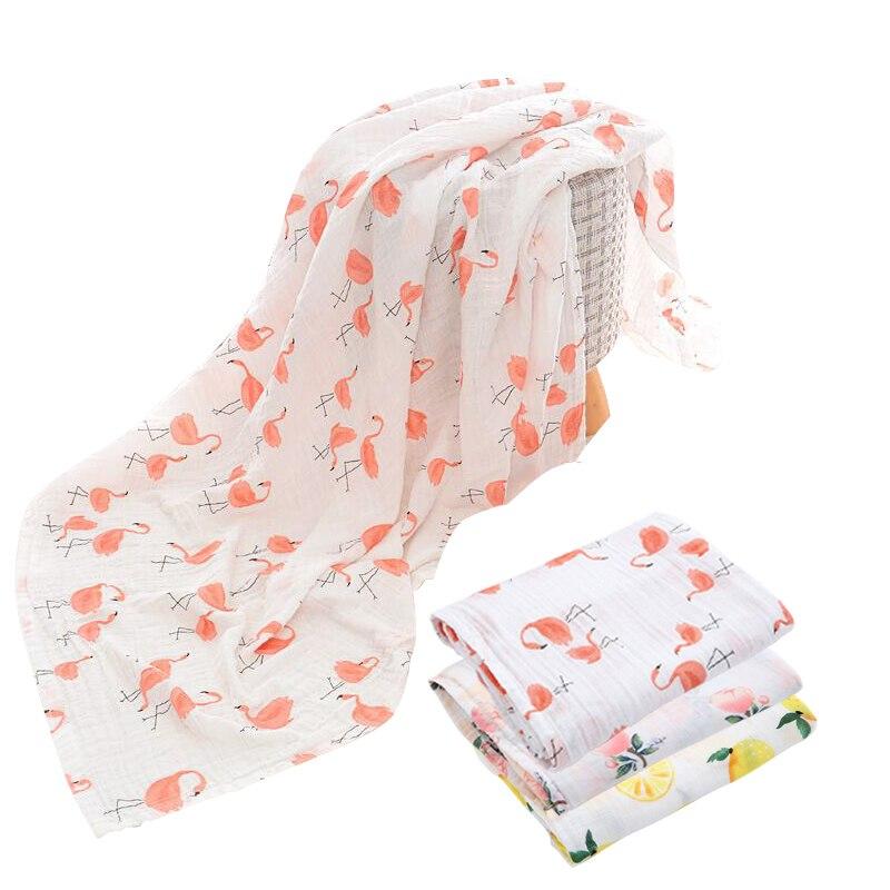 Manta de bebé de algodón Flamingo suave multifuncional mantas ...