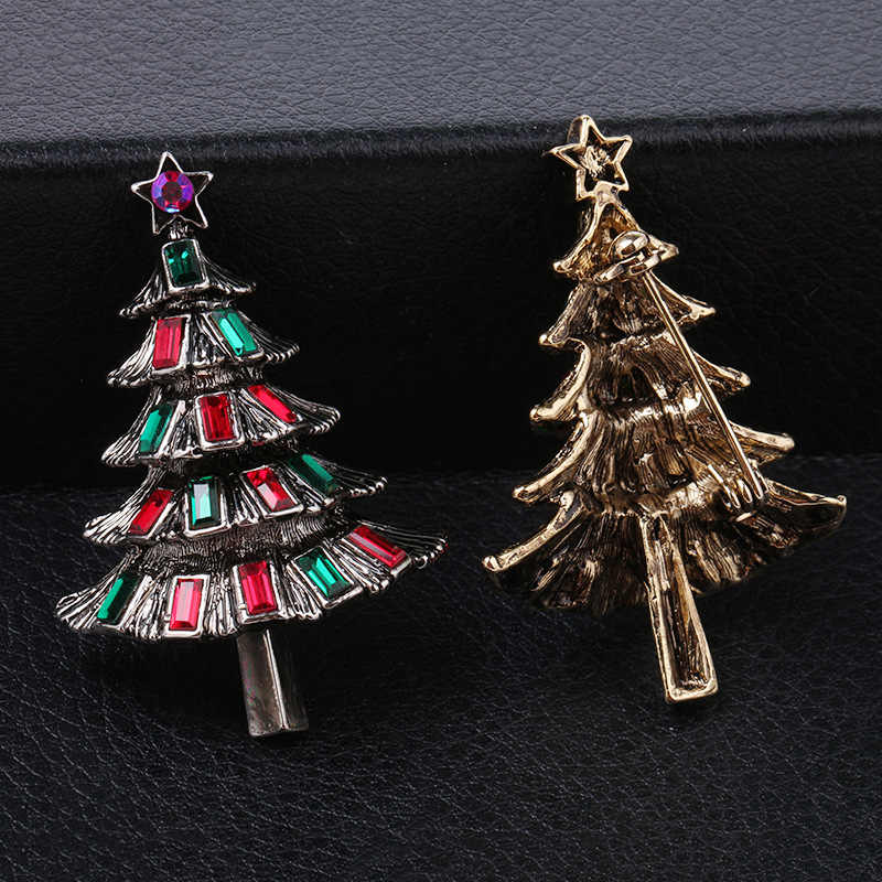 36e8282ec8 CINDY XIANG Colorful Crystal Christmas Tree Brooches for Women Vintage  Exquisite Pins Gift Sweater Dress Accessories Jewelry