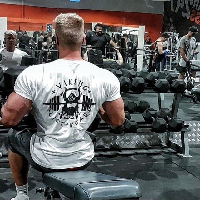 VIKING Gyms T shirt Crossfit Brand Clothing Fitness T-shirt compression Short Sleeve Tshirt Bodybuilding Workout Tee-shirt Plus