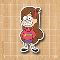American animation Gravity Falls Mabel Notebook/refrigerator/skateboard/trolley case/backpack/Tables/book sticker PVC sticker