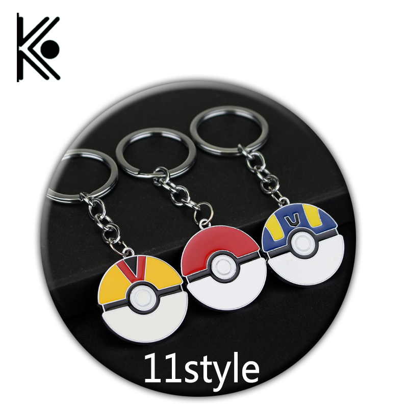 free shipping Mix Pokemon Keychains Keyring Jewelry Gifts Pocket Monster Jewelry Pokemon Go keychains ...