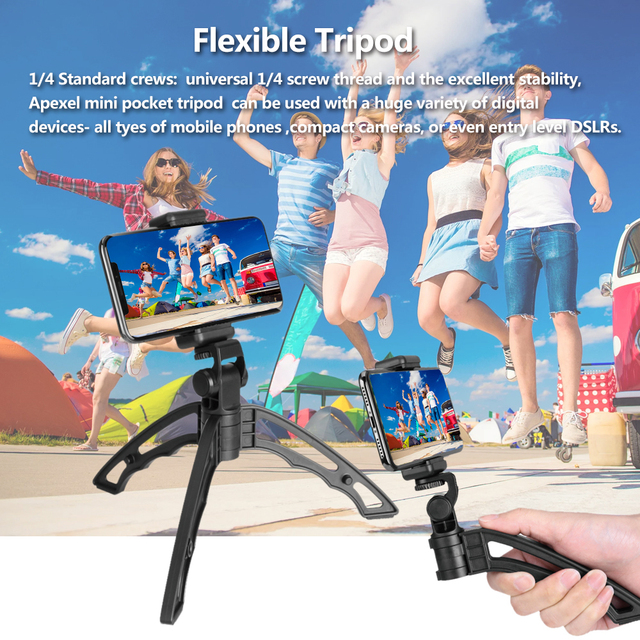 APEXEL Phone Camera Lens Kit universal Metal 16x Telescope telephoto lens+selfie tripod+ 3 in 1 lens for Samsung and otherphones 2