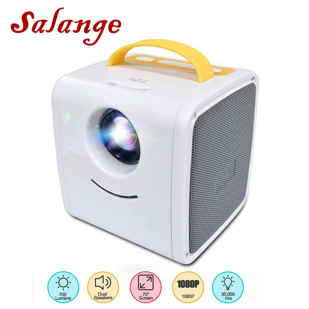 Salange Q2 Mini proyector 700 lúmenes juguete portátil niños educación Mini LED hogar Beamer soporte 1080P - 2