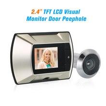 2.4 인치 LCD 컬러 스크린 디지털 초인종 150 정도 문 초인종 전자 틈 구멍 카메라 뷰어 야외 도어 벨