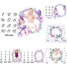 Одеяла для новорожденных девочек и мальчиков, веха для фотосъемки на день рождения, реквизит для фотосессии, аксессуары для одежды