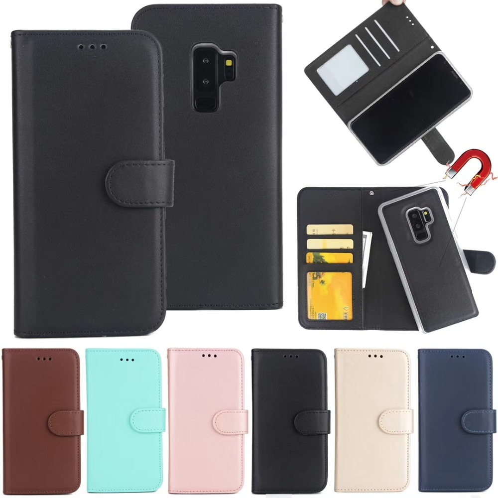 50pcs DHL korea Magnetic 2 in 1 Wallet Leather phone Cases For samsung Galaxy s9