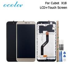 Ocolor עבור Cubot X18 LCD תצוגה + מסך מגע עם מסגרת 5.7 אינץ Digitizer עצרת החלפה עבור Cubot X18 + כלים + דבק