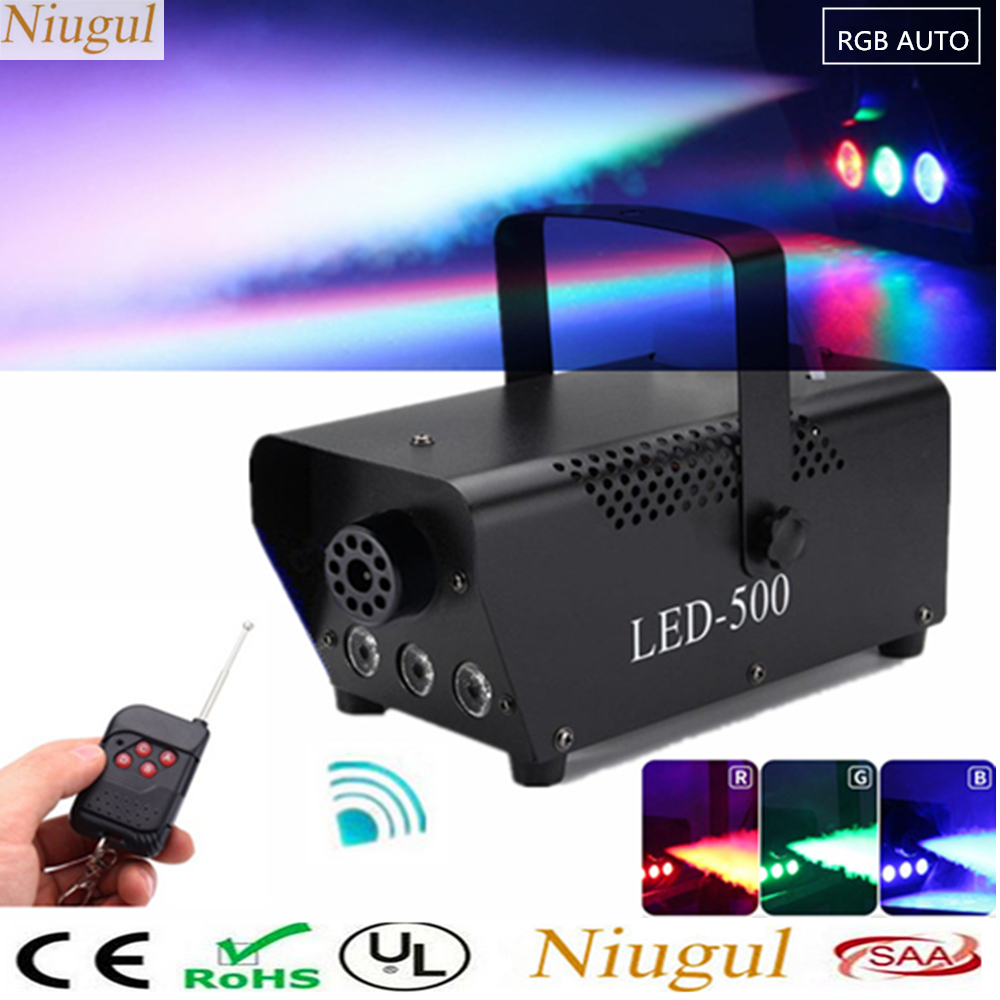 Commercial Lighting Active High Quality Remote Control 500w Fog Machine With Rgb Led Lights/full Color Smoke Machine/stage Party Smoke Generator/led Fogger Lights & Lighting