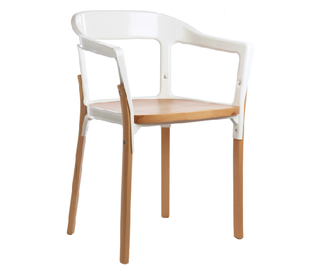 Free Shipping Steel Wood  Chair