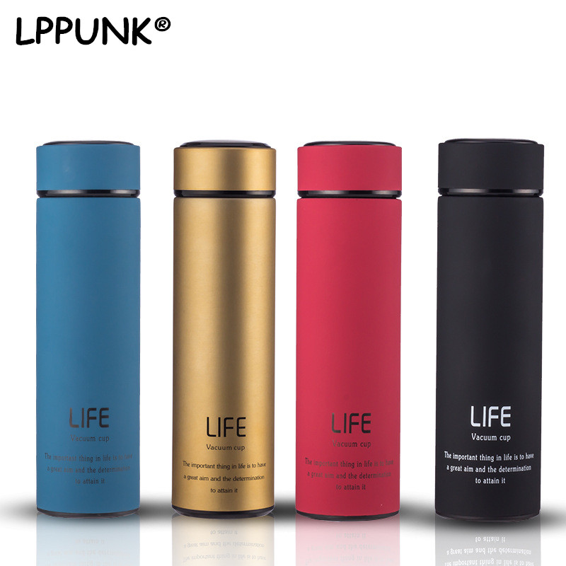 Bpa-free Insulated vacuum flasks tea infuser water bottle double wall travel 304stainless steel kettle thermos thermals cup