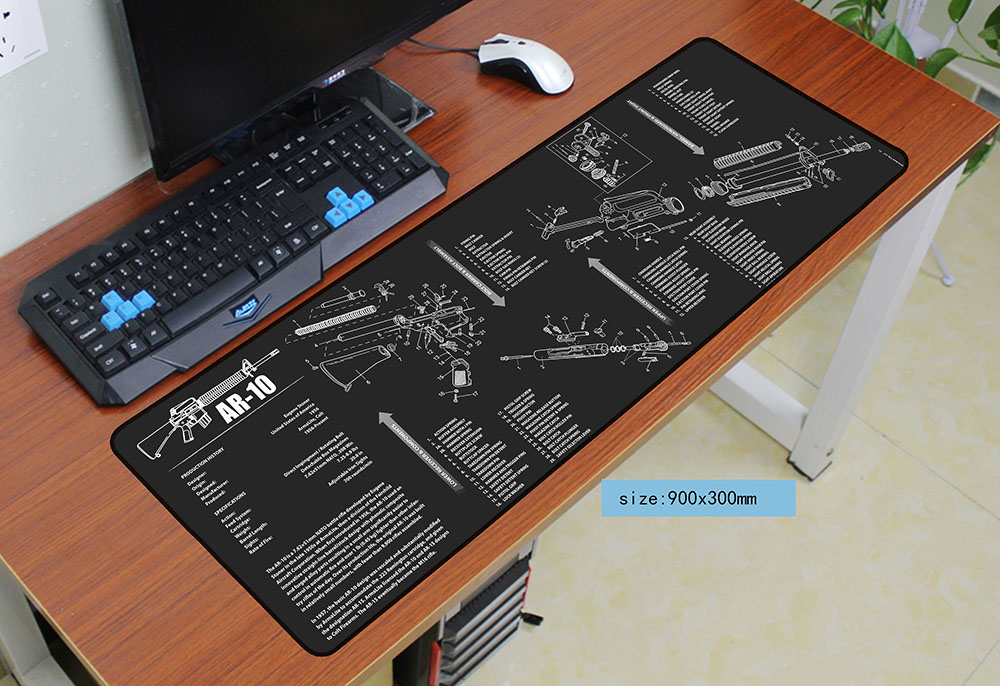 US $14 69 30% OFF|Fashion 900x300x3mm ar15 mouse pad gaming mousepad gamer  mouse mat pad custom game computer m14 padmouse laptop Batman play mats-in