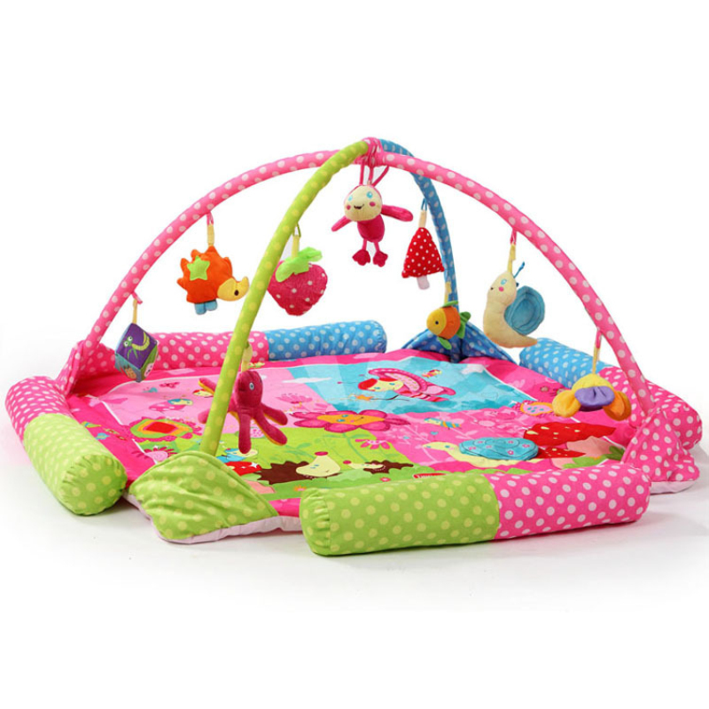 Flower turtle hedgehog snail bee Soft Play mat Blanket Pad twin Fitness Frame Educational Baby Toys Climb Crawling Baby Gym