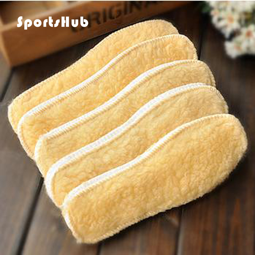 SPORTSHUB Unisex Fleece Warmer Shoes Pad Shoes Insoles Artificial Wool Insole Thickening Thermal Snow Boots Insoles NR0080