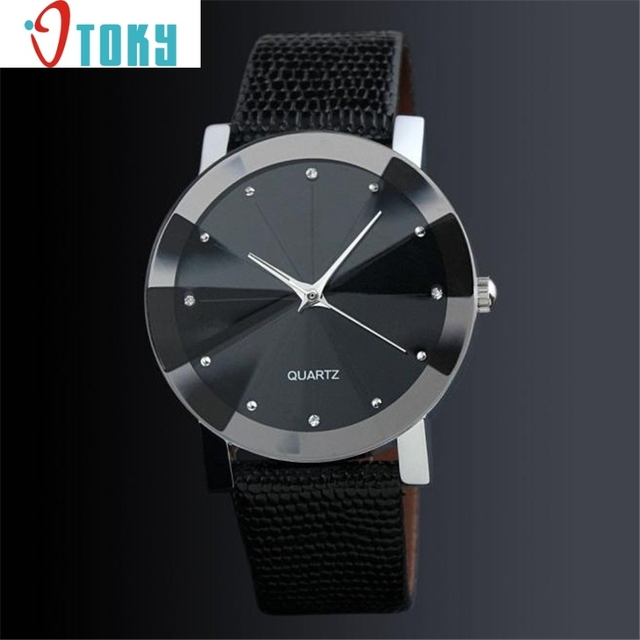 Hot Luxury Quartz Sport Military Stainless Steel Dial Leather Band Wrist Watch D
