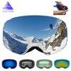 VECTOR New Brand Ski Goggles Double UV400 Anti Fog Big Ski Mask Glasses Skiing Professional Men