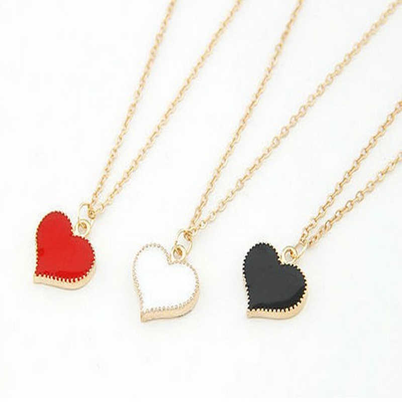 New Fashion retro 3 color heart pendant necklace lucky jewelry accessories best selling in 2018  8ND337